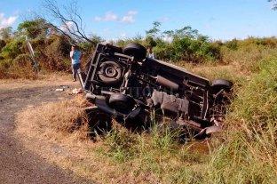 Volcó un utilitario en la RN 19: el conductor fue hospitalizado -