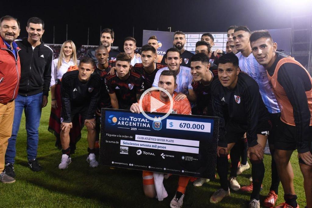 Copa Argentina: River le ganó 3 a 0 a Argentino de Merlo