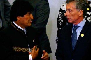 Macri recibe a Evo Morales con una agenda que incluye el gas, salud y Venezuela -  -