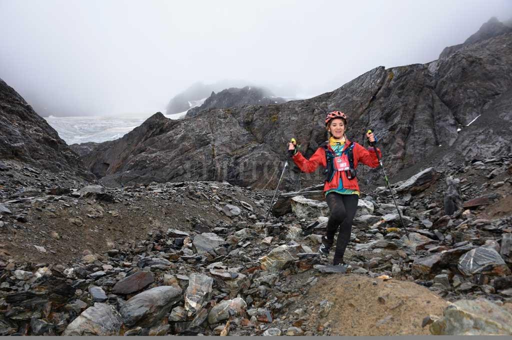 Marisa Nieva. la santafesina fue tercera en una de las carreras de trail más importantes del país. <strong>Foto:</strong> Gentileza Ushuaia Trail