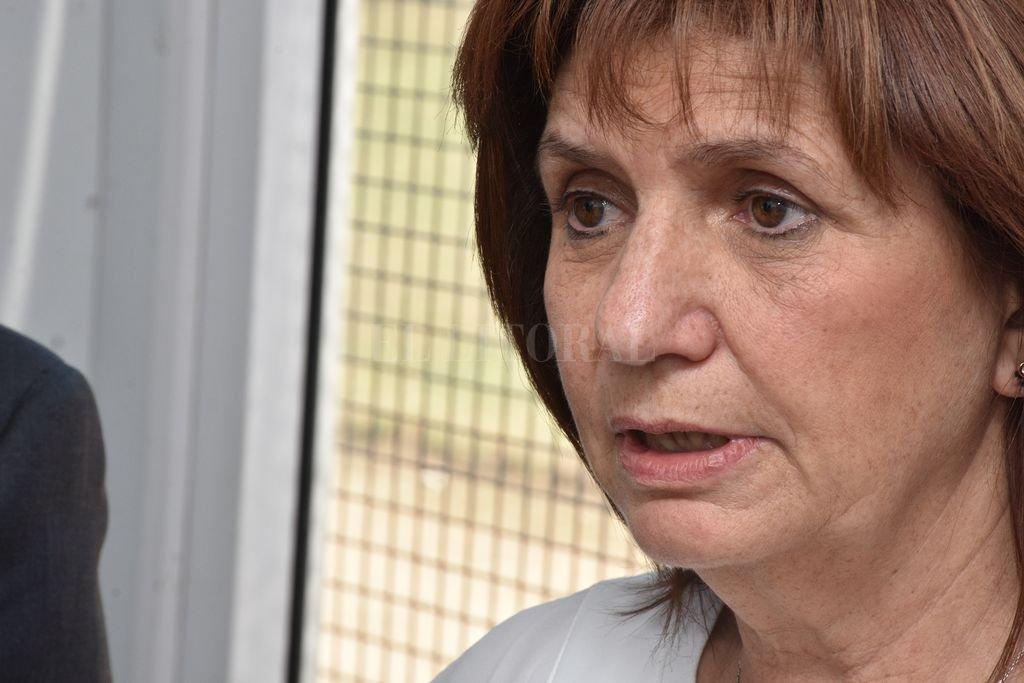 """""""Los paros no sirven para ayudar al país"""", afirmó la ministra de Seguridad de la Nación, Patricia Bullrich. <br /> <strong>Foto:</strong> Guillermo Di Salvatore"""