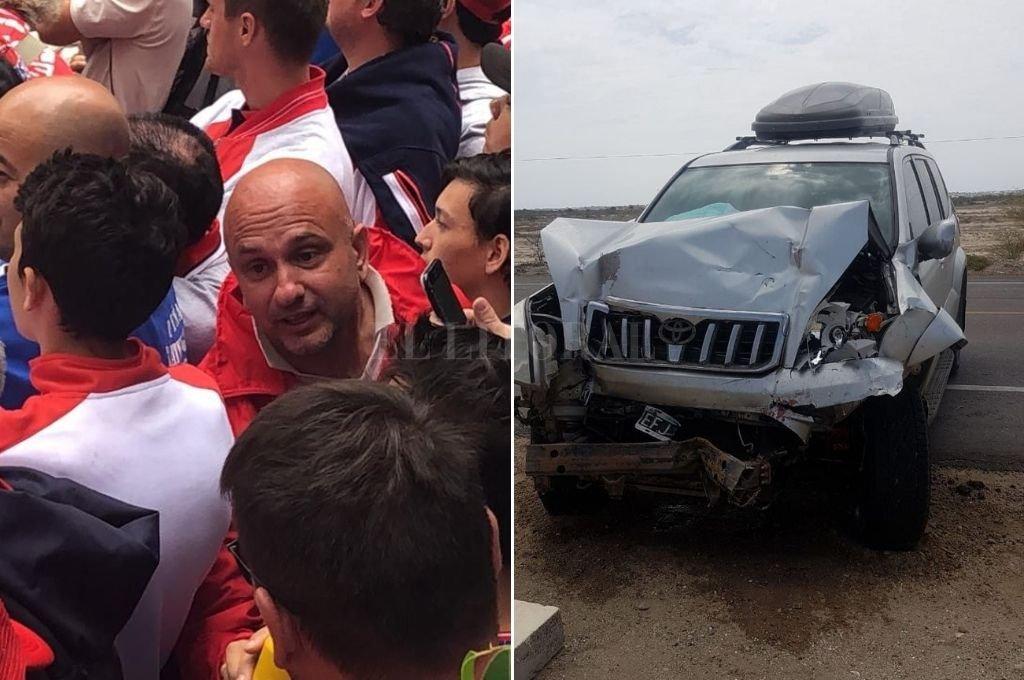 José María Belletti y su auto. <strong>Foto:</strong> El Litoral