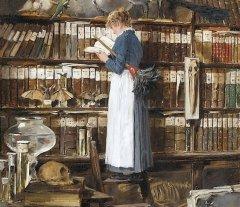 """Inicia sus sesiones el Taller de Lectura - """"Muchacha leyendo en la biblioteca"""", de Edouard John Mentha. -"""