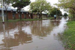 """Las inundaciones en Corrientes y Chaco tendrían """"baja incidencia"""" en Santa Fe - La localidad chaqueña de Charata es una de las más perjudicadas por las inundaciones. -"""