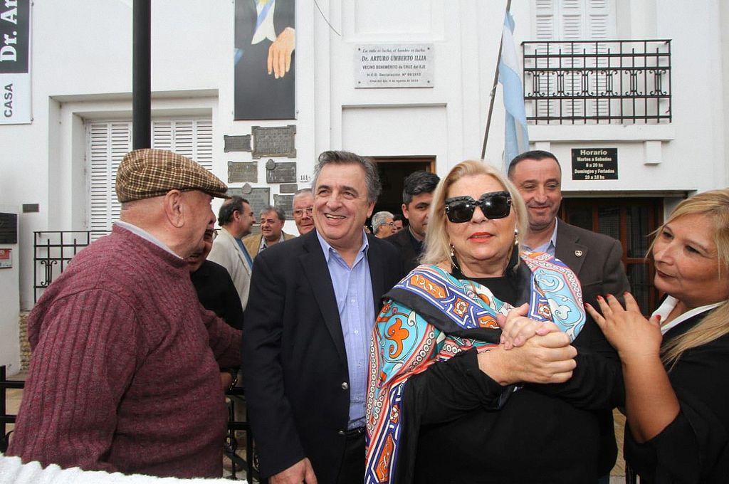 Carrió en actividad política en la localidad cordobesa de Cruz del Eje, en respaldo a la candidatura a gobernador del diputado radical Mario Negri. <strong>Foto:</strong> Gobierno de Córdoba