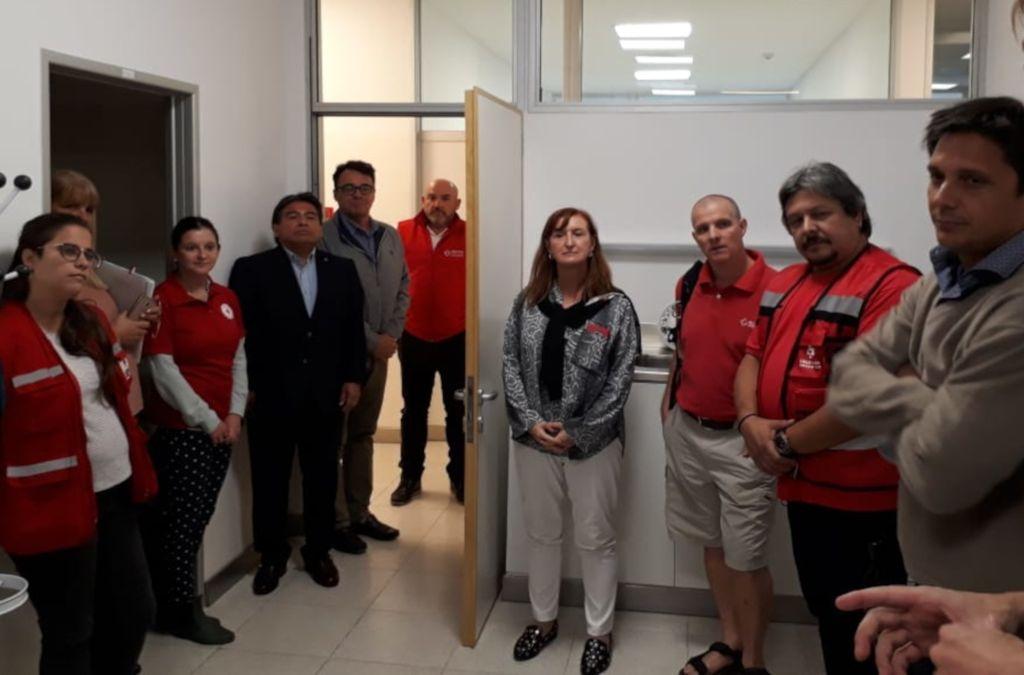 Autoridades de la Cruz Roja visitaron el Cemafe