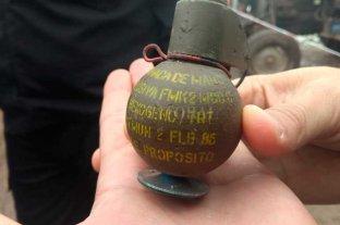 Encontraron una granada de mano en un relleno sanitario