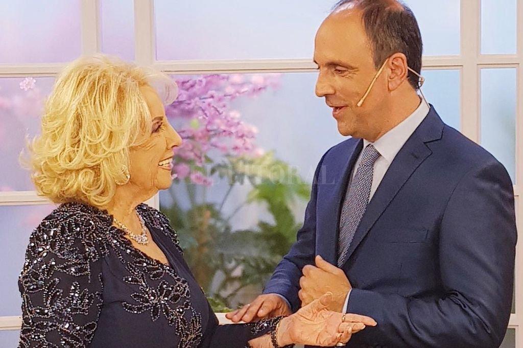 José Corral junto a Mirtha Legrand.  <strong>Foto:</strong> Captura de pantalla