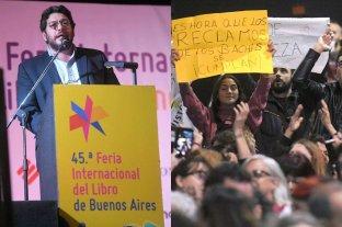 Protesta contra Avelluto en la apertura de la Feria del Libro -  -