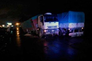 Automovilista lesionado tras siniestro en la autopista Santa Fe - Rosario -  -