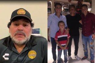 """El mensaje de Diego Maradona para los hijos del """"Huevo"""" Toresani"""