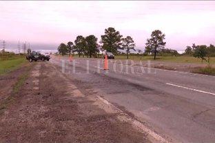 Autopista Santa Fe - Rosario: taparon el pozo y multaron a una empresa por no señalizar la obra -