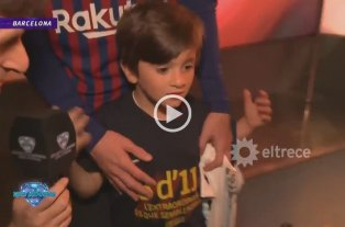 El video emotivo que le mostraron a Thiago Messi