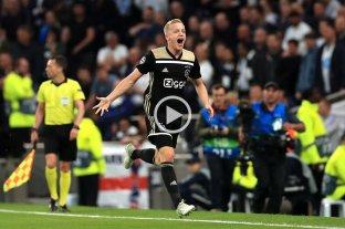 Ajax sacó ventaja ante Tottenham en busca de la final de la Champions League