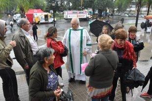 Los peregrinos fueron a Guadalupe movidos por la fe, bajo la lluvia