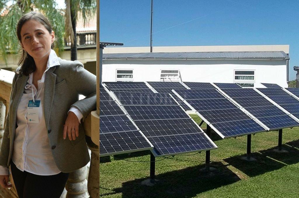 Mercedes Pereyra Boue, ingeniera química, experta en energías renovables.  Crédito: Luis Cetraro
