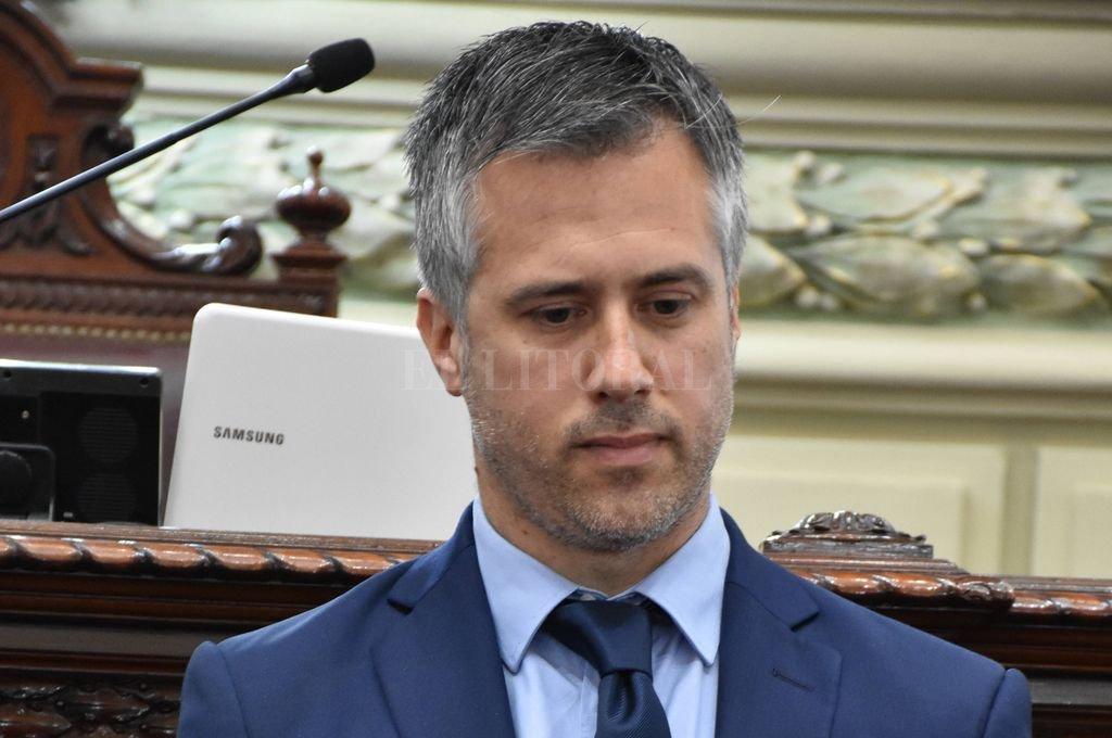 Leandro Busatto, primer candidato a diputado provincial por Juntos. Crédito: Pablo Aguirre