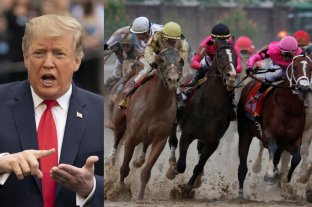 Trump cuestionó el resultado de la carrera de caballos más importante del mundo