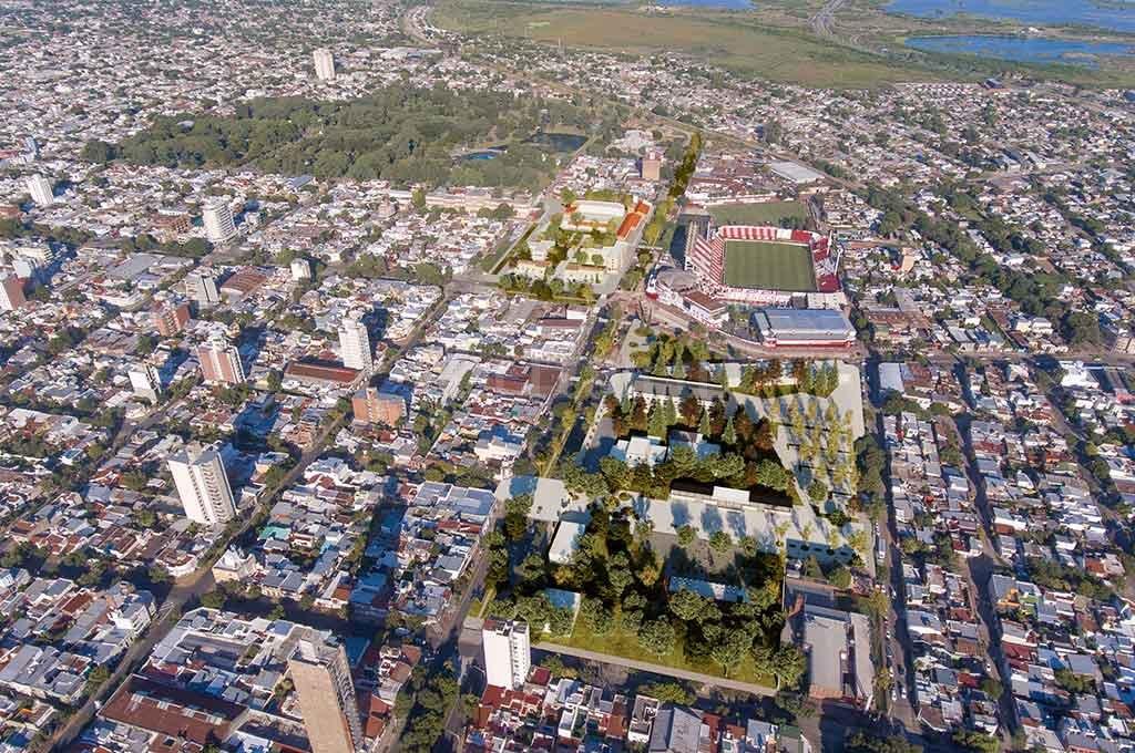 Vista aérea del sector abarcado por el proyecto. <strong>Foto:</strong> Gentileza.