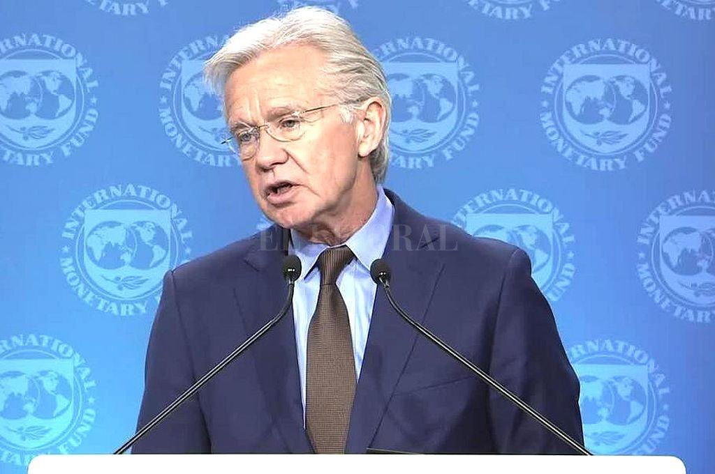 Gerry Rice, vocero del FMI. <strong>Foto:</strong> Captura digital