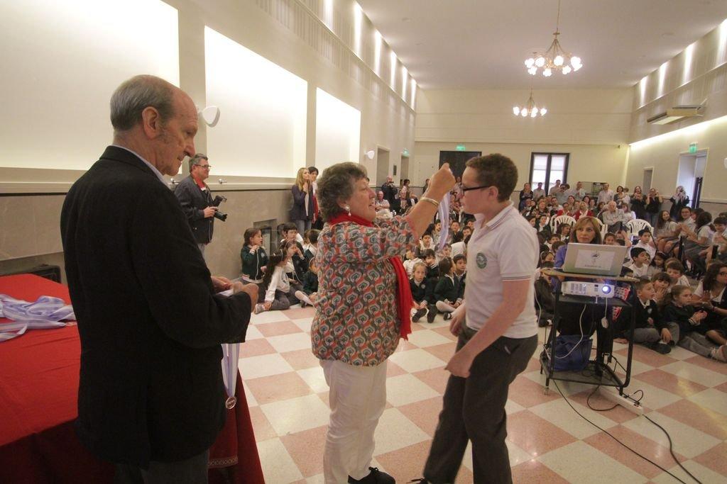 En 2016 un grupo de alumnos de la Escuela Dante Alighieri fueron premiados por Fadam por un trabajo que participó en el certamen. <strong>Foto:</strong> Archivo El Litoral / Pablo Aguirre