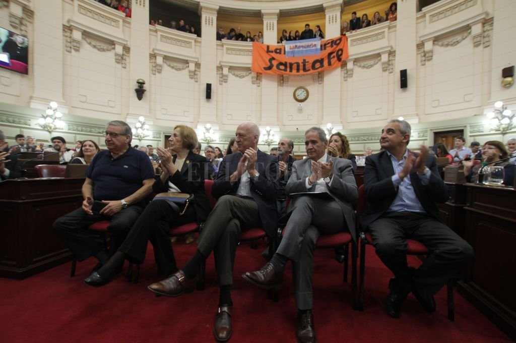 Homenaje en la Cámara de Diputados de la Provincia por los 60 años de la huelga bancaria. <strong>Foto:</strong> Mauricio Garín