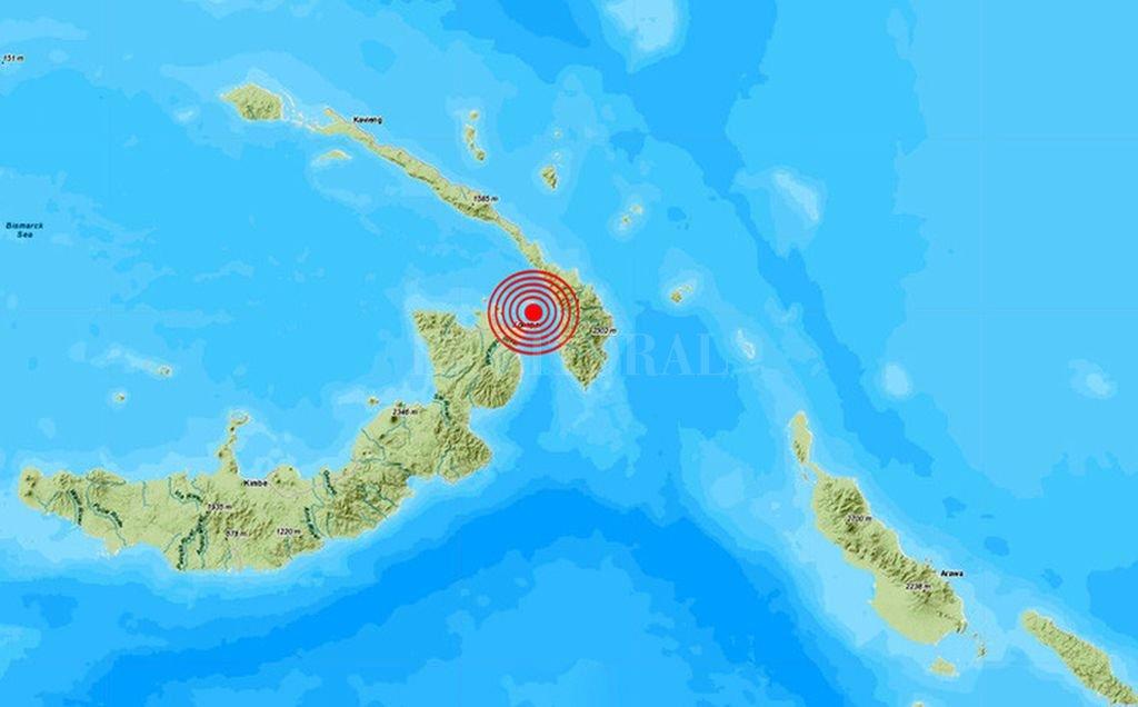 SHOA descarta tsunami costas chilenas sismo 7.7 Papúa Nueva Guinea