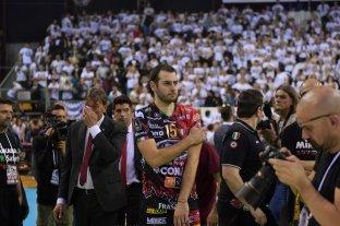 El equipo del santafesino De Cecco perdió la final de la liga italiana de voley
