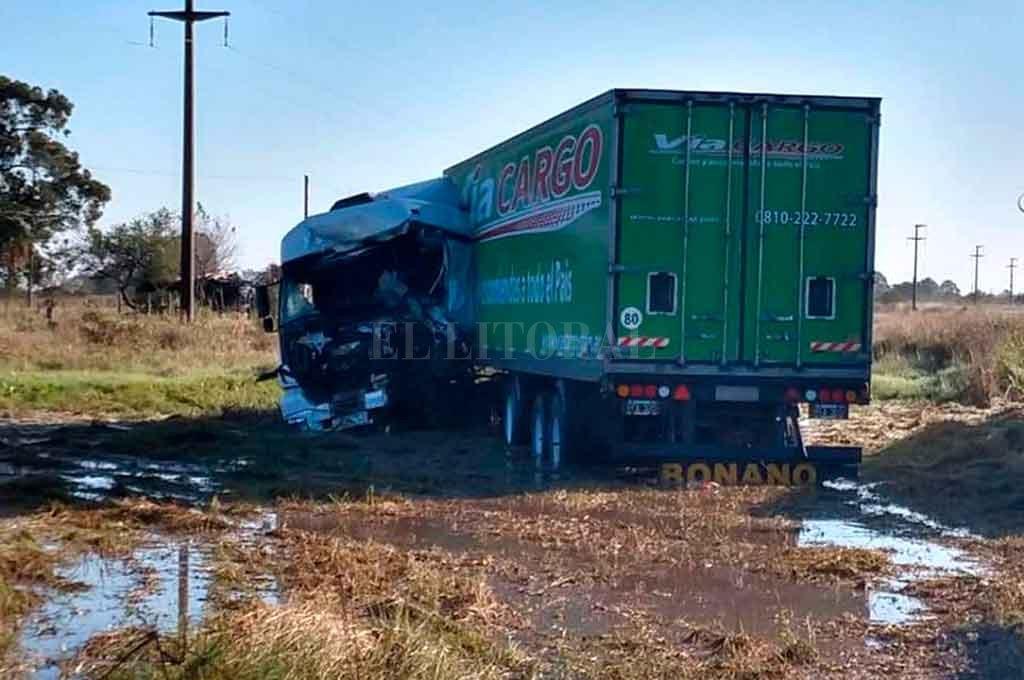 La víctima fatal fue el conductor del camión de la empresa Vía Cargo. <strong>Foto:</strong> Gentileza.