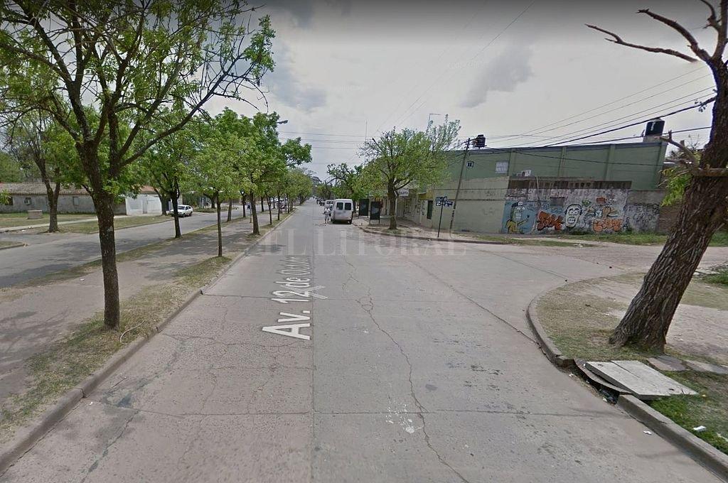 Intersección de 12 de Octubre y pasaje Río Negro. Crédito: Captura digital - Google Maps Streetview