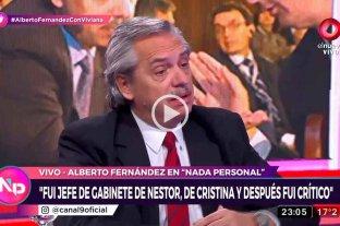 """Alberto Fernández: """"El reencuentro fue una idea de Cristina y a mí me pareció excelente"""" -  -"""