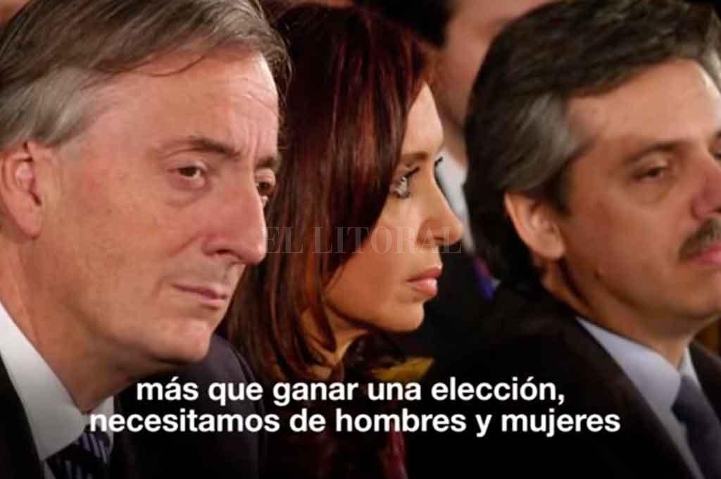 Un plano elegido para el video divulgado hoy por la ex presidente Cristina Fernández de Kirchner. Crédito: Captura de video
