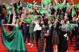 """La """"Ola Verde"""" a favor del aborto legal se hizo sentir en el Festival de Cannes"""