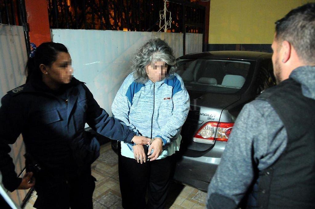 Una de las detenidas en La Matanza. <strong>Foto:</strong> NA