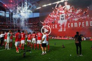 """El """"Flaco"""" Conti se consagró campeón en Portugal con el Benfica -  -"""