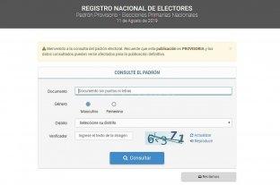 Advierten que hay tiempo hasta el viernes para verificar los datos en el padrón electoral -