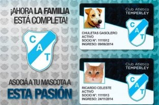 Temperley permite que se asocien mascotas al club