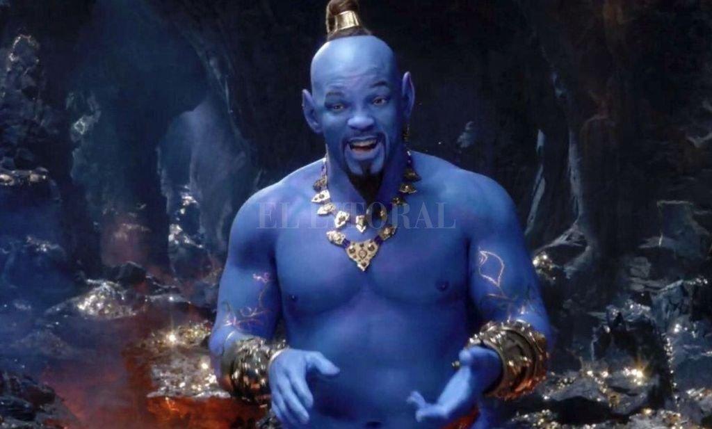 Will Smith en la piel del Genio de la lámpara, en esta relectura con actores del clásico de Disney. Crédito: Gentileza Disney