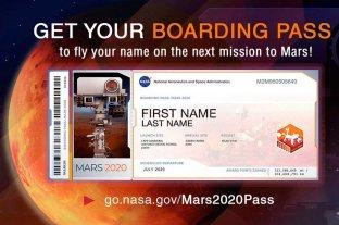 """La NASA invita a """"acompañar"""" virtualmente a la próxima misión a Marte -  -"""