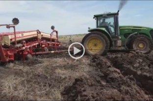 Efecto inundaciones: tierra que se traga las máquinas  -