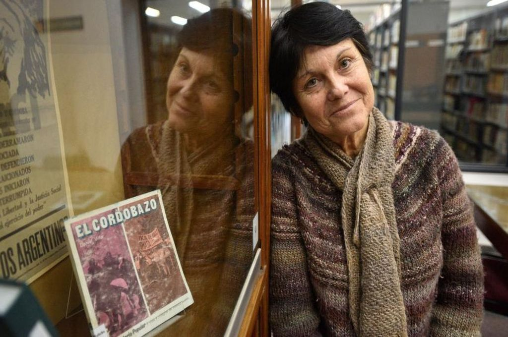 """Marta Gordillo, historiadora: """"El Cordobazo fue lo que fue por la fuerte resistencia y represión que encontraron los trabajadores cuando empezaron a avanzar hacia el centro. Esa violencia los empoderó"""". Crédito: Gentileza La Voz"""