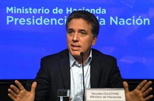 El Gobierno solicitó al FMI cambios en las metas con mayor compromiso fiscal - Nicolás Dujovne, ministro de Hacienda de la Nación. -