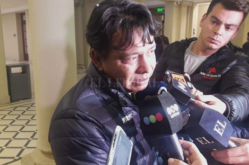 """Gustavo Escalante, papá de Valentina, aseguró que el imputado """"no tiene perdón de Dios, ni de nadie"""". <strong>Foto:</strong> El Litoral"""