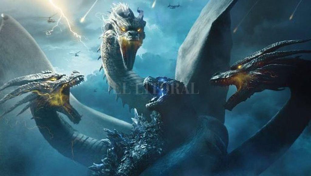 Godzilla deberá enfrentar a otras supercriaturas peligrosas, como el Rey Ghidorah de tres cabezas. Crédito:  Gentileza Warner Bros.