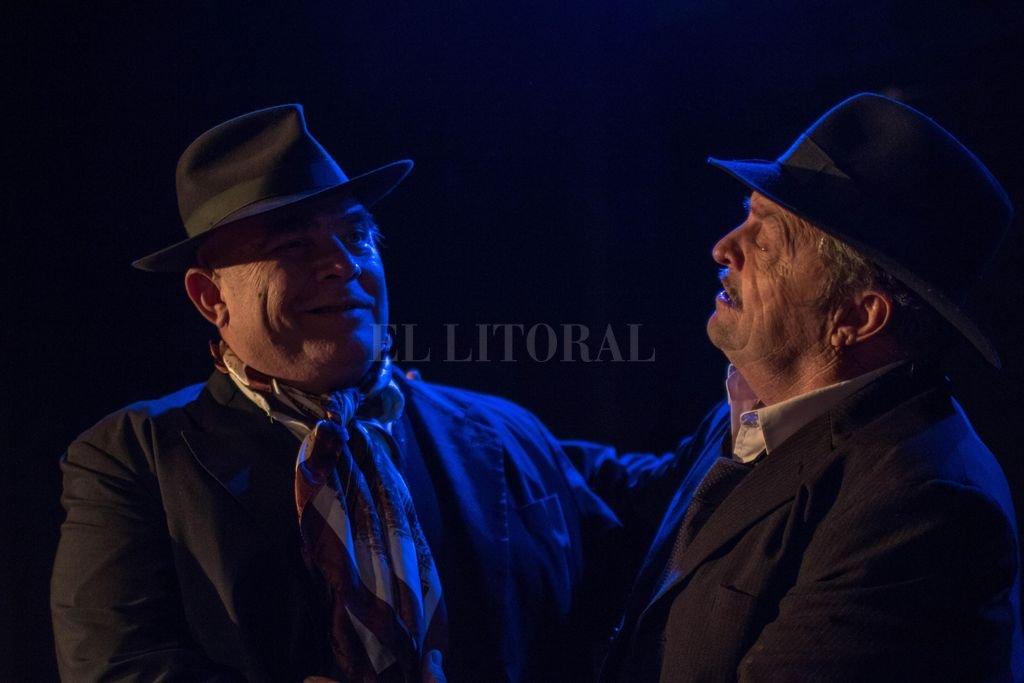 """Los actores Claudio Paz y Guillermo Frick en """"El clásico binomio"""".  Crédito: Gentileza producción"""