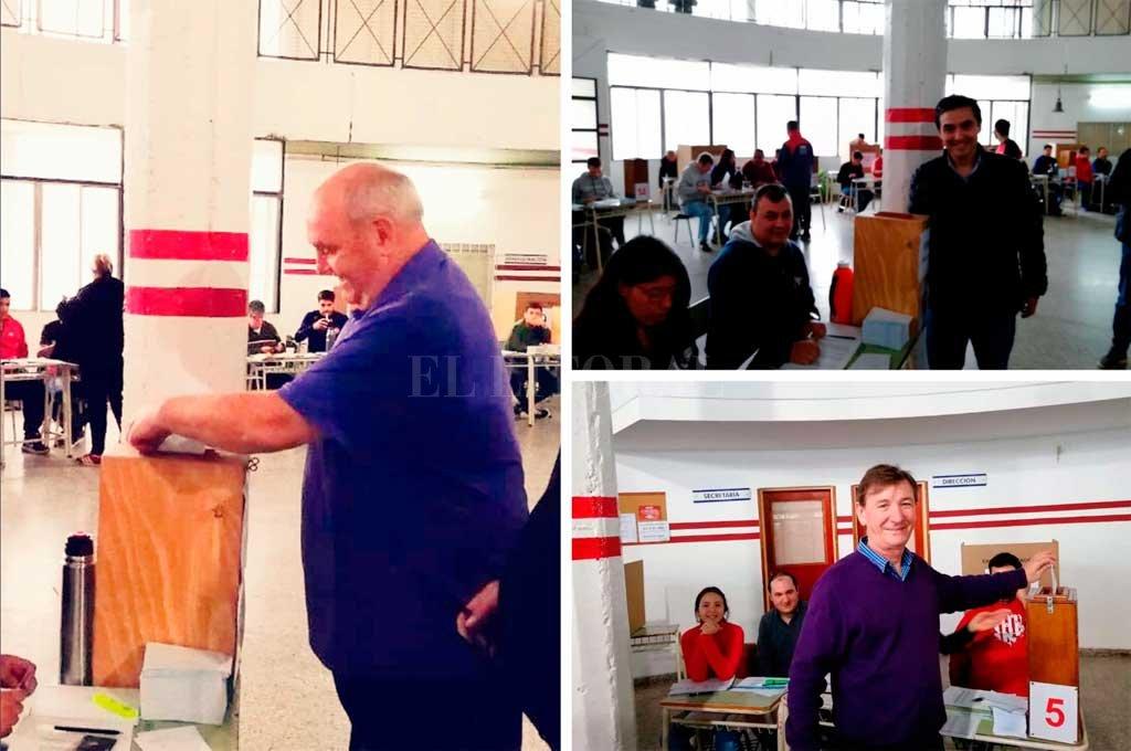 Los tres candidatos ya votaron durante la mañana <strong>Foto:</strong> El Litoral