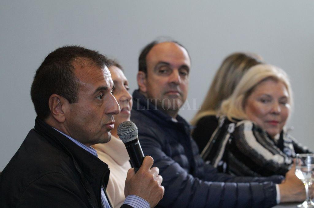 Mario Quintana, ex ministro Coordinador de la Jefatura de Gabinete, participó por primera vez de una conferencia de prensa en campaña. <strong>Foto:</strong> Mauricio Garín
