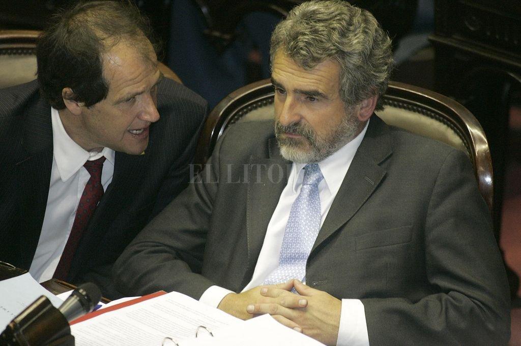 Agustín Rossi en la Cámara de Diputados de la Nación en 2008. <strong>Foto:</strong> Archivo El Litoral
