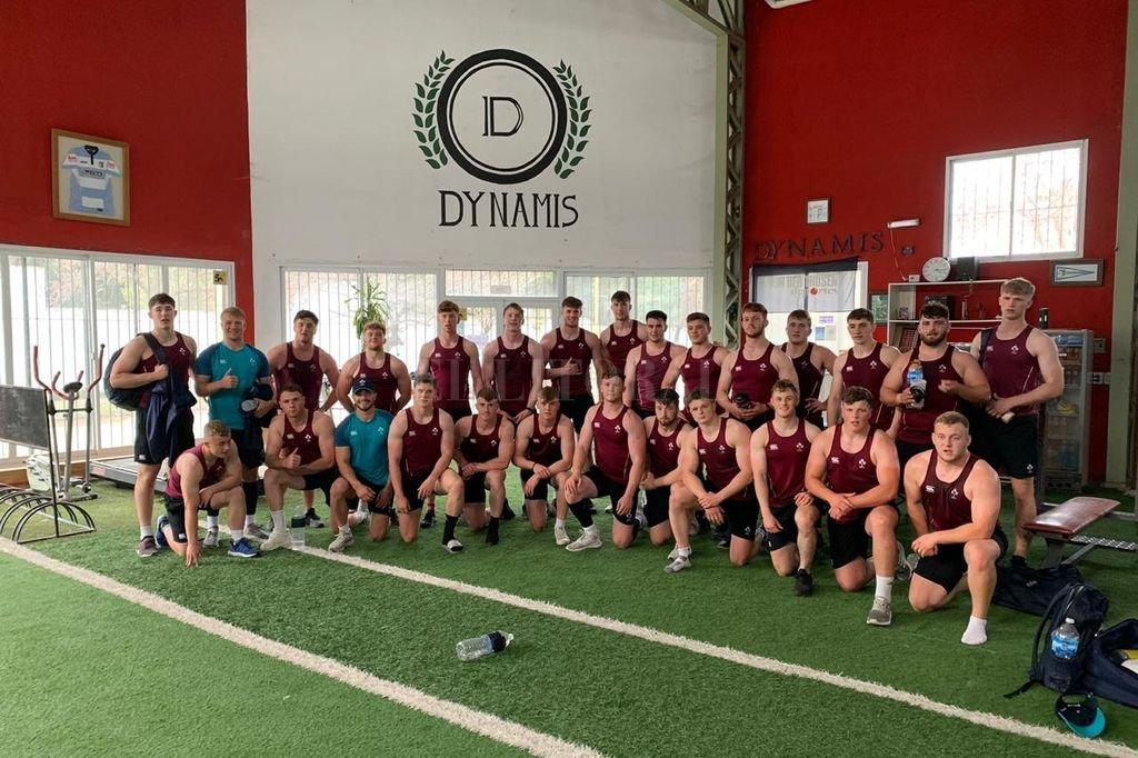 Irlanda, tras concluir una sesión de musculación en el Gimnasio Dynamis, sinónimo de rugby en nuestra capital. <strong>Foto:</strong> El Litoral