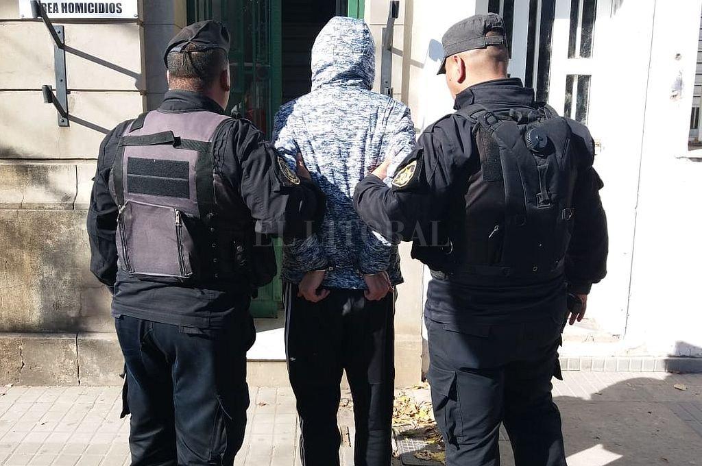 P.P., de 27 años, fue detenido en el Fonavi San Jerónimo. <strong>Foto:</strong> Gentileza